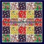 Ficha técnica e caractérísticas do produto Colcha Patchwork | Projeto Floral (solteiro)