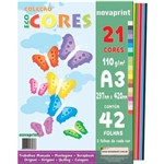 Coleção Ecocores 42fls. 21cores A3 Novaprint