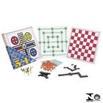 Ficha técnica e caractérísticas do produto Combo 5 Jogos Ludo Damas Trilha Dominó e Loto 65598 Xalingo