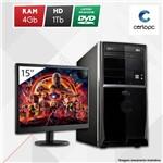 "Computador + Monitor 15"" Intel Dual Core 2.41GHz 4GB HD 1TB DVD Certo PC Fit 103"