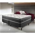 Conjunto Cama Box Queen Size Soft Comfort Preto - Antiácaro, Antifungo e Antialérgico 158x198x61cm