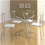 Ficha técnica e caractérísticas do produto Conjunto de Mesa 0375 e 4 Cadeiras 0154 - Carraro 375154.4 3751544