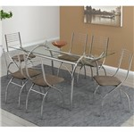 Ficha técnica e caractérísticas do produto Conjunto de Mesa 0379 e 6 Cadeiras 0146 - Carraro 379146.6 3791466