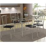 Ficha técnica e caractérísticas do produto Conjunto de Mesa 0379 e 6 Cadeiras 0154 - Carraro 379154.6 3791546