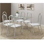 Ficha técnica e caractérísticas do produto Conjunto de Mesa 0387 e 6 Cadeiras 0182 - Carraro 387182.6 3871826