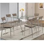 Ficha técnica e caractérísticas do produto Conjunto de Mesa 0387 e 6 Cadeiras 1701 - Carraro 3871701.6 38717016