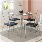 Ficha técnica e caractérísticas do produto Conjunto de Mesa 1502 e 4 Cadeiras 1700 - Carraro 15021700.4 150217004