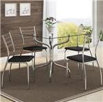 Ficha técnica e caractérísticas do produto Conjunto de Mesa 0393 e 4 Cadeiras 1700 - Carraro 3931700.4 39317004