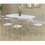 Ficha técnica e caractérísticas do produto Conjunto de Mesa 1507 e 6 Cadeiras 0154 - Carraro 1507154.6 15071546