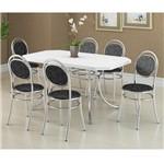 Ficha técnica e caractérísticas do produto Conjunto de Mesa 1507 e 6 Cadeiras 0190 - Carraro 1507190.6 15071906