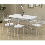 Ficha técnica e caractérísticas do produto Conjunto de Mesa 1507 e 6 Cadeiras 1700 - Carraro 15071700.6 150717006