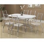 Ficha técnica e caractérísticas do produto Conjunto de Mesa 1507 e 6 Cadeiras 1710 - Carraro 15071710.6 150717106