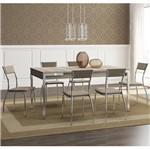 Ficha técnica e caractérísticas do produto Conjunto de Mesa 1529 e 6 Cadeiras 1701 - Carraro 15291701.6 152917016