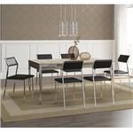 Ficha técnica e caractérísticas do produto Conjunto de Mesa 1529 e 6 Cadeiras 1709 - Carraro 15291709.6 152917096