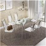 Ficha técnica e caractérísticas do produto Conjunto de Mesa Carraro 1534 + 6 Cadeiras 1718