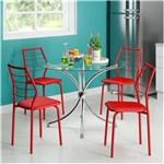 Ficha técnica e caractérísticas do produto Conjunto de Mesa Carraro 375 + 4 Cadeiras 1716