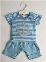 Ficha técnica e caractérísticas do produto Conjunto Masculino Azul Aya Baby (P)