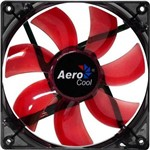 Ficha técnica e caractérísticas do produto Cooler Fan 12cm Red Led En51363 Vermelho Aerocool