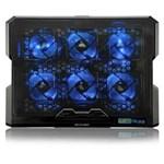 Ficha técnica e caractérísticas do produto Cooler para Notebook com 6 Fans Led Azul - Multilaser