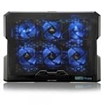 Ficha técnica e caractérísticas do produto Cooler para Notebook Multilaser com 6 Fans LED Azul - AC282