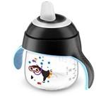 Ficha técnica e caractérísticas do produto Copo Pinguim Avent Antivazamento 6m+ 200ml Preto