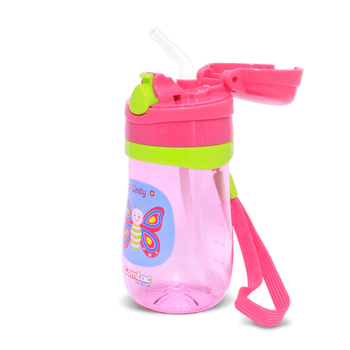 Ficha técnica e caractérísticas do produto Copo Plástico com Canudo Borboleta Cindy