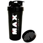 Ficha técnica e caractérísticas do produto Coqueteleira Shaker Preta (600Ml) - Max Titanium
