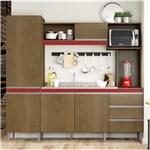 Ficha técnica e caractérísticas do produto Cozinha Compacta Vitória 318 - Soluzione - MARROM CHOCOLATE