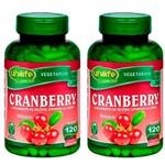 Cranberry 500mg - 2 Un de 120 Cápsulas - Unilife