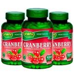 Cranberry 500mg - 3 Un de 120 Cápsulas - Unilife