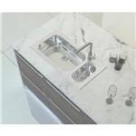 Ficha técnica e caractérísticas do produto Cuba de Sobrepor Tramontina 1 Cuba e Auxiliar em Aço Inox e Vidro Temperado Branco 86 X 44 Cm com Vá