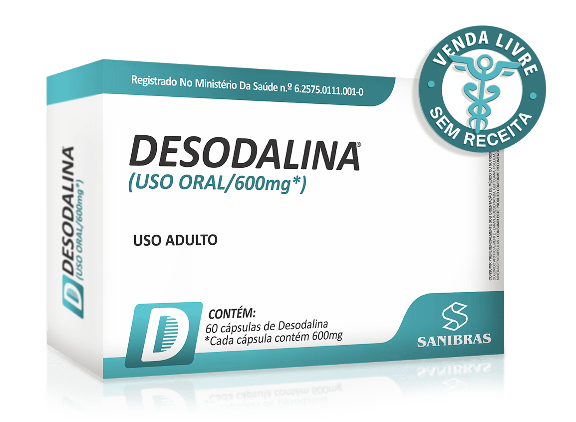 Ficha técnica e caractérísticas do produto Desodalina 60 Cápsulas de 600mg Sanibras
