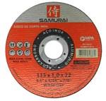 """Disco de Corte Fino Inox 4.5"""" X 1,0x22 Samurai"""