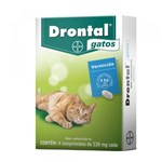 Ficha técnica e caractérísticas do produto Drontal Blister para Gatos (4 Comprimidos) 4kg - Bayer