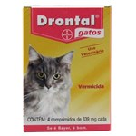 Ficha técnica e caractérísticas do produto Drontal Gatos 4 Comp - Bayer (vermífugo Oral)