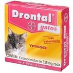 Ficha técnica e caractérísticas do produto Drontal Gatos 4 Comprimidos