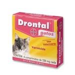 Ficha técnica e caractérísticas do produto Drontal Gatos com 04 Comprimidos