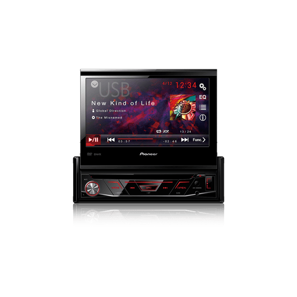 Dvd Player AVH-4880BT Pioneer 1 Din 7 Pol Retrátil Bluetooth USB AUX RCA AM FM