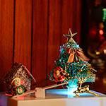 Enfeite Iluminado Papai Noel na Gangorra - Orb Christmas