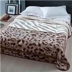 Enxovais Cama Adulto Casal Padrao Cobertor Corttex -Microfibra Home Design Gana Marrom