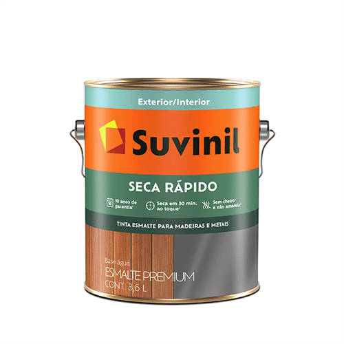 Ficha técnica e caractérísticas do produto Esmalte Acetinado Suvinil Seca Rapido 3,6 Litros Branco