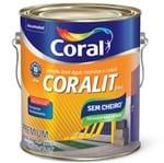 Ficha técnica e caractérísticas do produto Esmalte Base Água Coralit Acetinado Branco 3,6L Coral