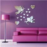 Espelho Decorativo Arílico - Cupidos & Corações