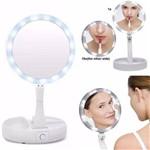 Ficha técnica e caractérísticas do produto Espelho Luzes de Led Dupla Face com Aumento