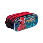 Estojo Escolar Poliéster Triplo Spiderman 18Z 65081 - Sestini