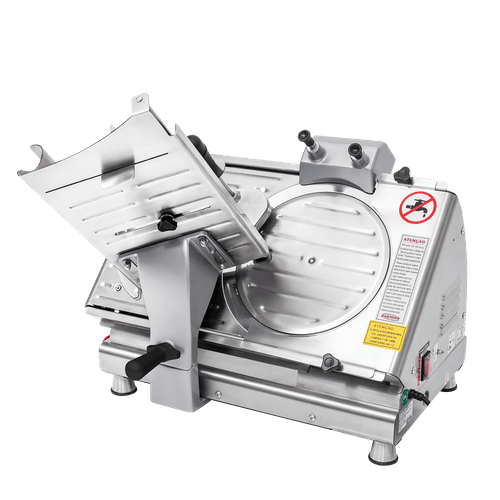 Ficha técnica e caractérísticas do produto Fatiador de Frios Bermar Semi-Automático 300mm Inox BM19-NR - Bivolt