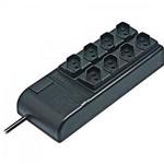 Filtro de Linha Slim 8 Tomadas Bivolt Automatico Preto Rcg