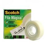 Ficha técnica e caractérísticas do produto Fita Adesiva Mágica Scotch 12mmx65m Transparente - 3M