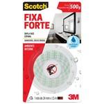 Ficha técnica e caractérísticas do produto Fita Dupla Face Fixa Forte 24mmx1,5m Áreas Úmidas Scotch 3m
