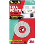 Ficha técnica e caractérísticas do produto Fita Dupla Face Fixa Forte Cozinha 24mm X1,5m 3m